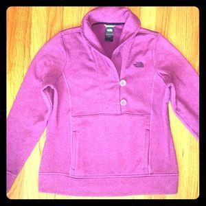 The North Face Purple Button Fleece Pullover